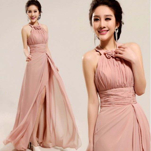 nude-color-long-chiffon-a-line-halter-neck-ruched-split-bridesmaid-dress-2015-pleated-wedding-party.jpg_640x640.jpg