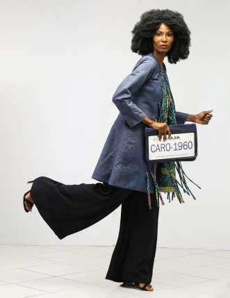 Tassel-jacket-with-tube-jumpsuit-and-Caro-bag