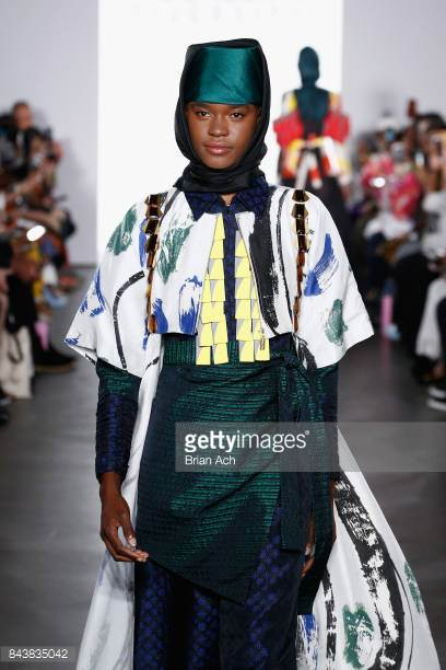 model-walks-the-runway-wearing-dian-pelangi-ss18-during-the-fashion-picture-id843835042