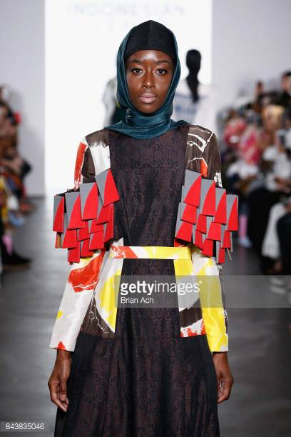 model-walks-the-runway-wearing-dian-pelangi-ss18-during-the-fashion-picture-id843835046